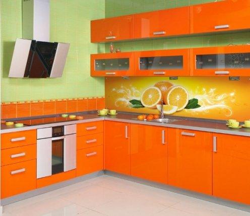 Помаранчева кухня: інтер єр