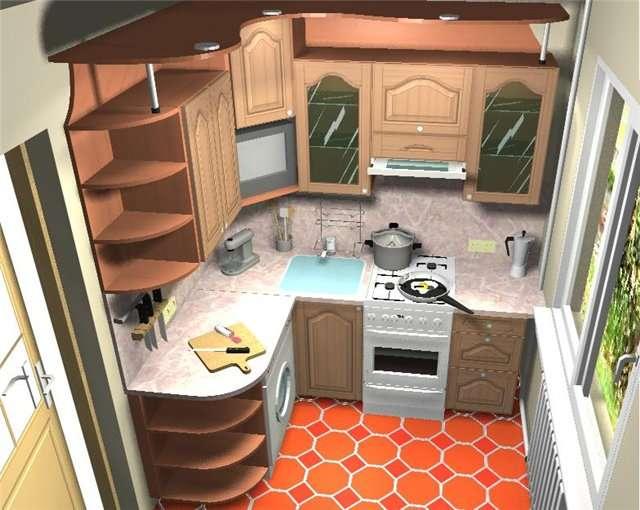 Интерьер кухни фото маленьких размеров